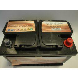 Akkumulátor 74ah 640A NewPower