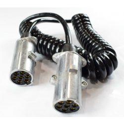 Elektromos 7pol 24V 4,5m spirálkábel fém világításhoz