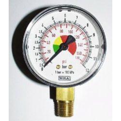 Keréknyomásmérő óra 12 bar-ig