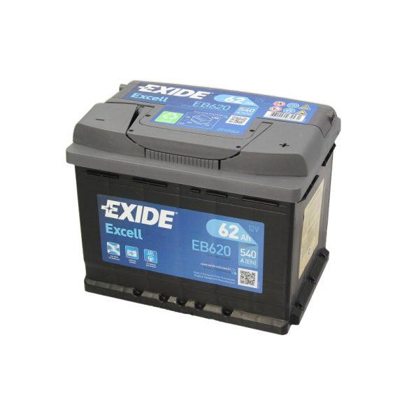 Akkumulátor 62AH 540A  EXIDE