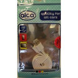 USB kábel fehér Alca