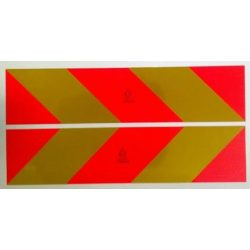 Fényvisszaverő tábla csíkos E jelzett 565*132mm