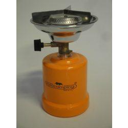 Gázfőző fém testű narancs