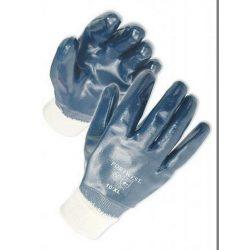 Kesztyű kék nitril mártott 9-es méret