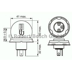 Bosch izzó MTZ R2 12V 45/40W