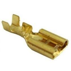 Csúszósaru hüvely 6,3mm 1,0-2,5