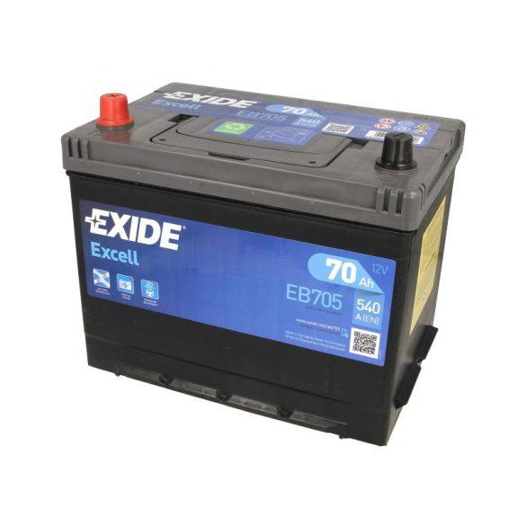 Akkumulátor 70ah 540A B+ Exide