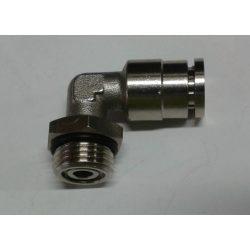 Levegőcsatlakozó derékszög fém 10-es M16*1,5