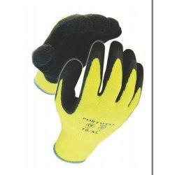 Kesztyű szövet+mártott sárga/fekete 9-es