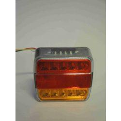 Lámpa utánfutó 4 funk. led 12V-24V sárga/piros