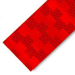 Fényvisszaverő csík 5cm piros
