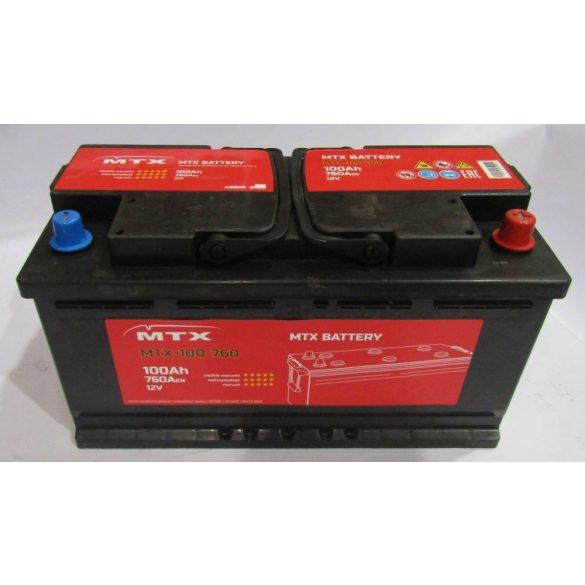 Akkumulátor 100ah 760A MTX