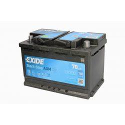 Akkumulátor 70AH 760A AGM J+ Start-S. EXIDE