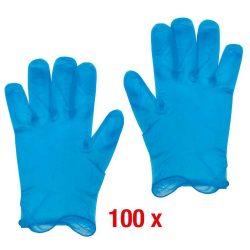 Egyszer használatos kesztyű kék XL