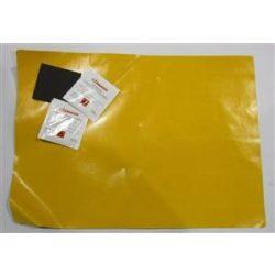 Ponyva folt sárga 45*32cm