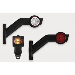Szélességjelző lámpa led oldalra 24V jobb (piros-fehér-sárga)