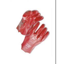 PVC piros kesztyű 10-es