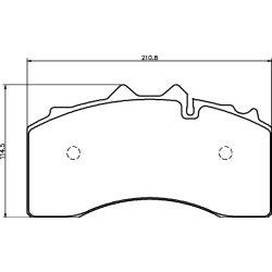 Fékbetét pót Textar T8200