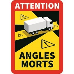 Matrica Angles Morts holttér figyelmeztetés