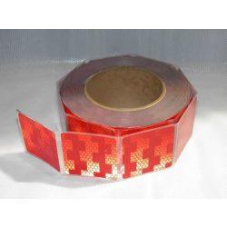 Fényvisszaverő csík 5cm piros részleges