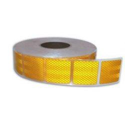 Fényvisszaverő csík 5cm sárga részleges